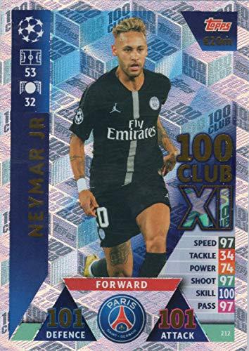 Match Attax 2017//18 100 XI Club Neymar JR Champions League 2018 cents 429