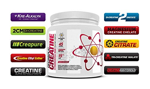 Decabolic Creatine : Advanced 10 BLEND Creatine ** Pure & Micronised - Muscular Strength, Growth and Development Supplement