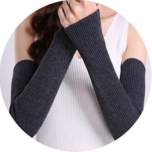 Winter Gloves Women Arm Warmers CashmereMittens Elbow Thread Knitted Sleeve Glove Driving Gloves