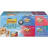 Friskies Purina Fish-A-Licious Cat Food Variety Pack - 32 CT