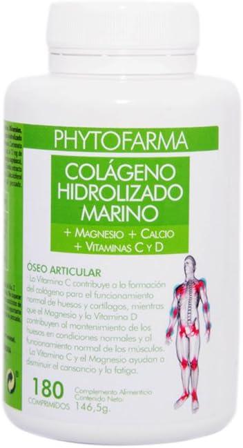 Phytofarma Colágeno Hidrolizado Marino - Paquete de 2 x 180 Comprimidos - Total: 360 Comprimidos: Amazon.es: Salud y cuidado personal