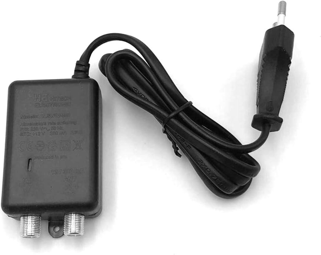 imesudeurope.online - Fuente de alimentación para antena de TV 12 V 300 mA con conectores F 1 ing 1 salida para amplificadores de palo. Fuente de ...
