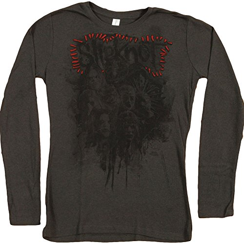 Slipknot Girls Jr Thermal Long Sleeve Small Grey