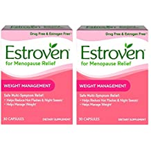 Estroven Weight Management - Multi-Symptom Menopause Relief* – With Ingredients to Help Reduce Hot Flashes and Night Sweats* - 30 Capsules - Pack of 2