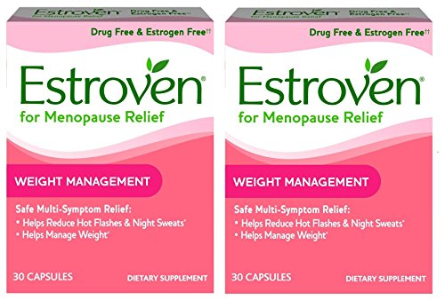 Estroven Weight Management - Multi-Symptom Menopause Relief* - With Ingredients to Help Reduce Hot Flashes and Night Sweats* - 30 Capsules - Pack of 2