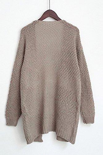 Maglione Le Outwear A Tasche Donne Pi Aperta Cardigan Yulinge wqaHt7t