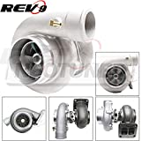 Rev9Power ( TX-66-62-T4D-3V-70 ) ANTI-Surge Racing Series TX-66-62 Turbocharger 70 A/R ( T4 Divided flange / 3 inch V- band exhaust) 600HP + Oil Cooled / Journal Bearing Turbo Charger Rev9