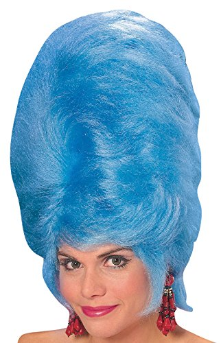 UHC Marge Simpson 50S Blue Beehive Bee Hive Retro Women Costume Wig Accessory ()