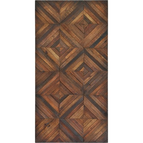 Renwil Chevron Stripes Wall Decor in Polished Veneer