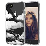 MOSNOVO iPhone 8 Case, iPhone 7 Clear Case, Cloud Pattern Printed Clear Design Transparent Plastic Back Case with TPU Bumper Protective Case Cover for iPhone 7/iPhone 8