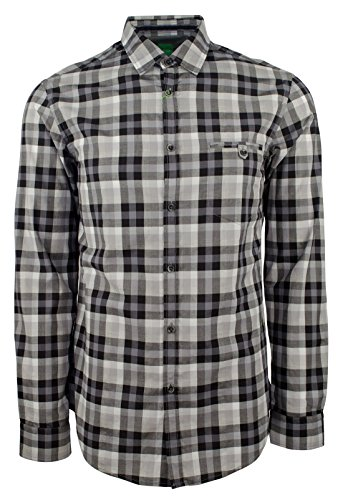 Hugo Boss Men's Green Label Blumas Slim-Fit Checked Sportshirt-BG-M by Hugo Boss