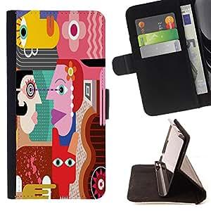 """King Case - FOR Samsung Galaxy S6 EDGE - """"?asking for no result - Prima caja de la PU billetera de cuero con ranuras para tarjetas, efectivo Compartimiento desmontable y correa para la mu?eca"""