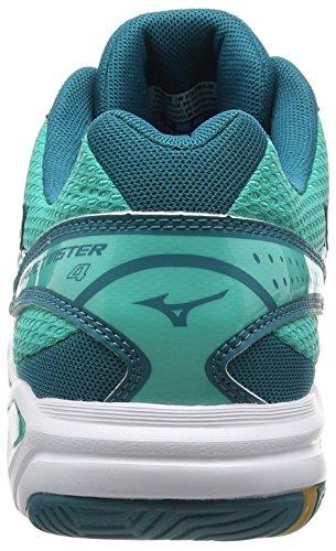 Mizuno Wave Twister 4 - Zapatillas de Voleibol, mujer Verde (Atlantis/White/Harbor Blue)