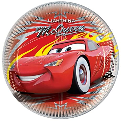 8 Disney CARS Lightning McQueen Party Disposable Large 9u0026quot; Paper Plates  sc 1 st  Amazon.com & Amazon.com: 8 Disney CARS Lightning McQueen Party Disposable Large 9 ...
