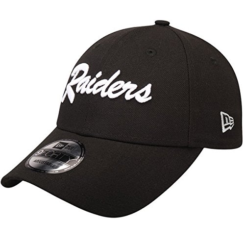 イーウェルバイアス横Oakland Raiders New Era The Leagueブラック9 FORTY Adjustable Hat