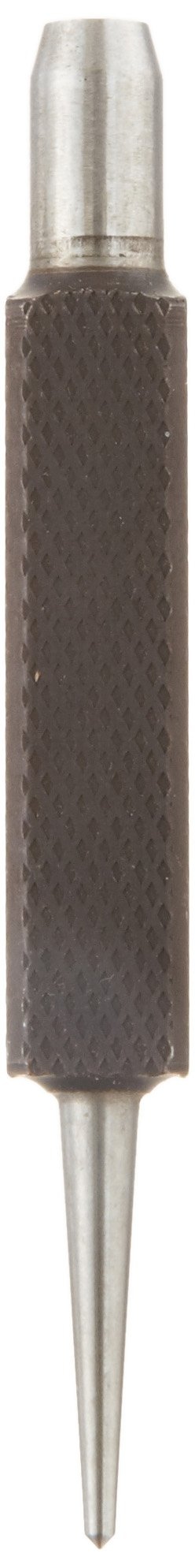 Starrett 264A Center Punch With Square Shank, 3'' Length, 1/16'' Tapered Point Diameter, 3/8'' Square Thickness