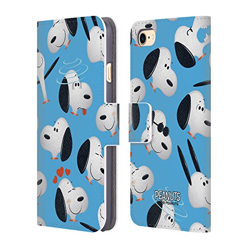 (Official Peanuts Snoopy Character Patterns Leather Book Wallet Case Cover for iPhone 7 / iPhone 8)