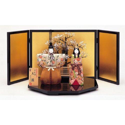【雛人形】真多呂作 木目込み雛人形 伝統的工芸品 光雲立雛   B006HJQRQ4