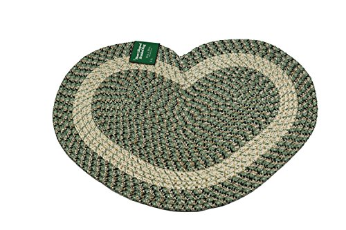 Emerald Wholesale Heart Shaped Braided Rug, 20