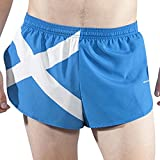 "BOA Men's 1"" Elite Split Leg Print Flag Running Short(1000CP) (Scotland, XL)"