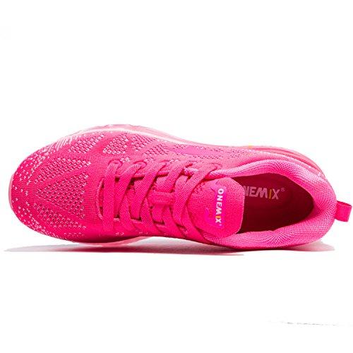 Rose Trail Gym Running Femme Compétition Air Course Fitness Chaussures Rouge de Baskets ONEMIX Entraînement Sport qxfpTC