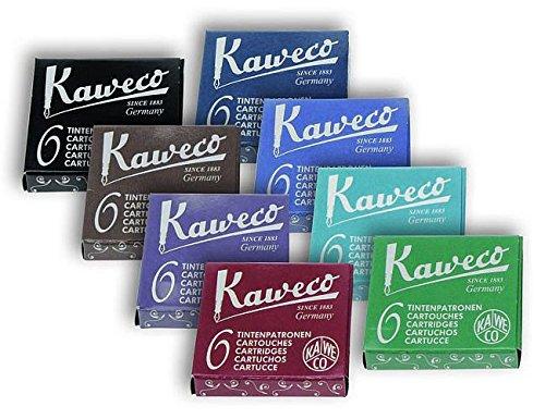 Kaweco Fountain Pen Ink Cartridges short, 8 colors, 8 x 6 pieces