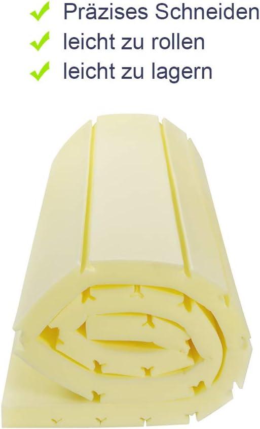 BedStory 7 zonen Kaltschaum Matratzentopper 140 x 200 5 cm orthop/ädische Matratzenauflage f/ür unbequemem Betten//Boxspringbett unbequemes Schlafsofa