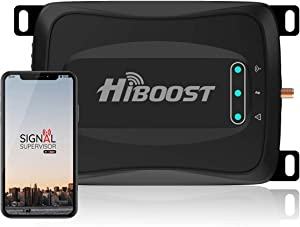 HiBoost Cell Signal Booster for RV, SUV, Vehicle, Van, Compatible All US Carriers- AT&T Sprint Verizon T-Mobile 2G 3G 4G LTE Cell Phone Booster