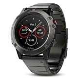 Garmin Fenix 5X Sapphire Slate Gray With Metal Band, One Size