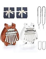 Mini Kalimba 2 Packs, Fixm Thumb Piano Mini Kalimba with 8 Keys, Finger Thumb Piano Great Gifts for Kids, Adults and Beginners photo