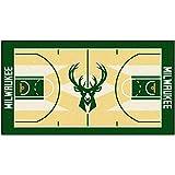 FANMATS NBA Milwaukee Bucks Nylon Face NBA Court Runner-Large