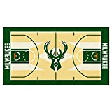 FANMATS NBA Milwaukee Bucks Nylon Face NBA Court Runner-Large