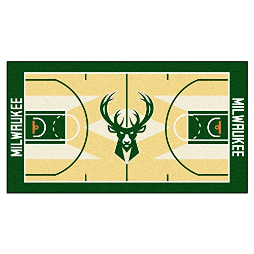 FANMATS NBA Milwaukee Bucks Nylon Face NBA Court Runner-Large by Fanmats