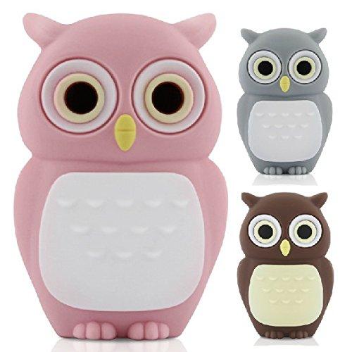 D-CLICK® High Quality 4GB/8GB/16GB/32GB/64GB/Cool Shape USB High speed Flash Memory Stick Pen Drive Disk (8GB, Gray Owl)