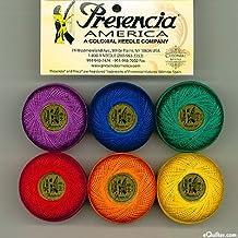 "Presencia Finca Perle Cotton Thread Sampler Pack, Size 5 (10 gram) - for sashiko, embroidery, and quilting - ""CRAYON"" Collection"