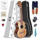 """Vangoa - UK-26K Tenor 26"""" inches Acoustic Ukulele in KOA with Nylon Strap, Pick, Pick Container, Carry Bag, Tuner, KAZOO, Backup Strings, Finger shaker"""