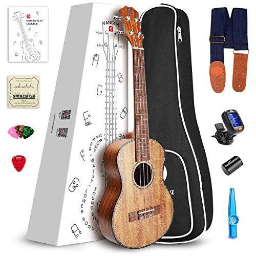 """Vangoa UK -23K 23"""" Concert KOA Acoustic Ukulele with Beginner Kit"""