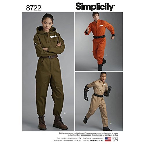 Simplicity Creative Patterns US8722A Misses', Men's and Teens' Costume -