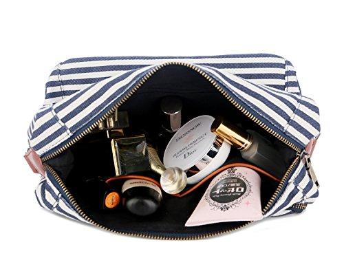 BAOSHA XS-04 Canvas Travel Toiletry Bag Shaving Dopp Case Kit for Women and ladies (Blue) by BAOSHA (Image #6)
