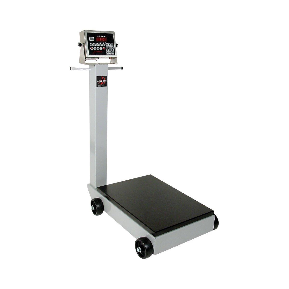 Detecto 5852F-204 Portable Digital Floor Scale, 500 lb. Capacity, 204 Indicator