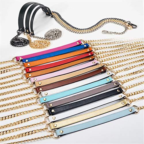Bag Replacement Leather DIY Strap Crossbody Shoulder Buckles Metal Blue Light Mdurian Chain Purse Handbags adzwaq