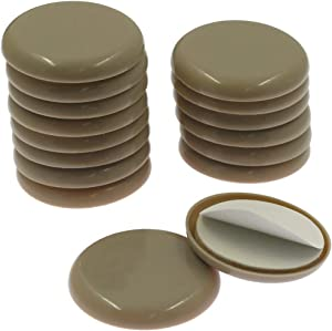 Amgiimor 16Pcs Self-Stick Furniture Sliders 2 Inch Round Adhesive Furniture Mover Glides Moving Pads for Carpet Floor