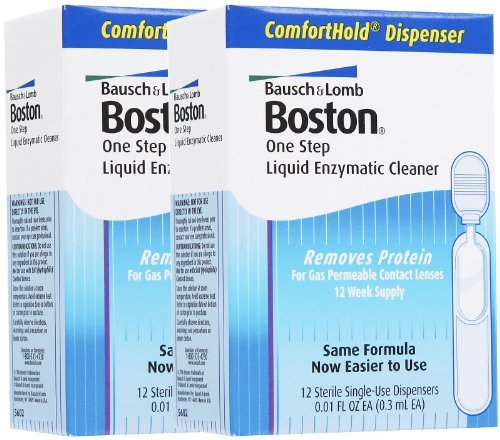 (Bausch & Lomb Boston One Step Liquid Enzymatic Cleaner-12 ct, 2 pack )