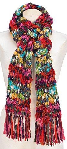 Womens Boho Scarf - Soft, Warm, Oversized Knit (Eyelash Scarf)