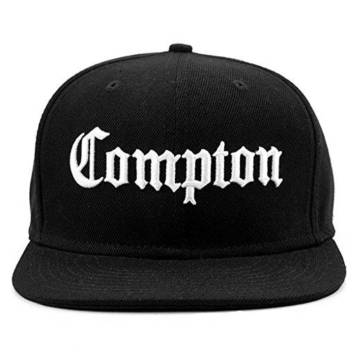 Compton Snapback Adjustable Flat Bill Baseball Cap Hat (Eazy E Compton Hat)