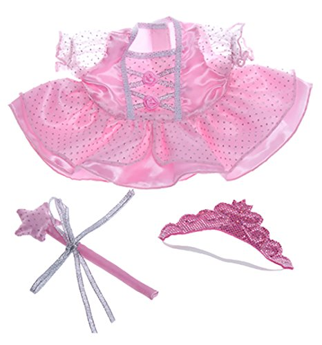 Shining Costume Bear (Fairy Princess Dress Wand, Tiara Fits Most Webkinz, Make Your Own Stuffed Animals)
