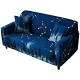 Lengendry Blue Sofa Couch Cover for Dogs Polyester Spandex Fabric Slipcovers for Sectional Sofa(Loveseat,2-Seat,47''-69'')
