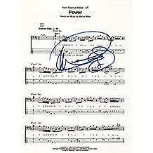 Marcus Miller jazz REAL hand SIGNED 8.5x11 Power novelty sheet music COA