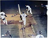 1986 Bill Buckner World Series Error Autographed/Signed 16x20 Photo Buckner/Wilson/Stanley/Gedman 129811