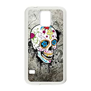 Samsung Galaxy S5 Cell Phone Case White Sugar Skull Cover GNP DIY Unique Case